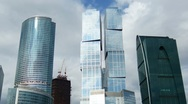 Moscow City, time-lapse with zooming Stock Footage