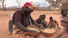 Kenya: Cleaning the Maize - stock footage