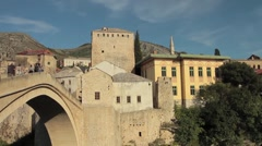 Stari Most. Old Bridge, Mostar 7 - stock footage