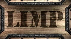 Limp on wooden stamp Stock Footage