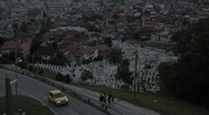 Sarajevo view Stock Footage