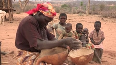 Kenya: Cleaning Maize - stock footage