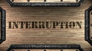 Interruption on wooden stamp Stock Footage