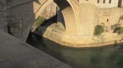 Stari Most. Old Bridge, Mostar 8 Stock Footage