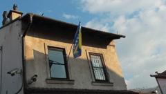 Bosnian flag - stock footage