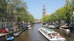 Amsterdam Westerkerk church Stock Footage