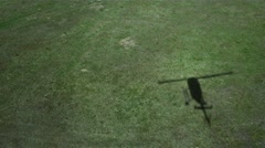 Shadow of Helicopter Landing. Stock Footage
