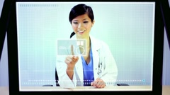 Future Medical Research Touchscreen Technology - stock footage