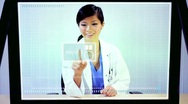 Stock Video Footage of Future Medical Research Touchscreen Technology