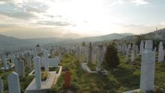 Sarajevo graveyard 2 Stock Footage