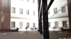 Reina sofia museum art madrid Stock Footage