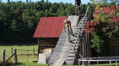 BMX Dirt Jumpers Stock Footage