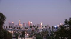 LA Dusk to Night Timelapse Stock Footage