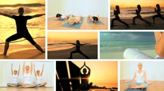 Montage of Yoga Fitness Lifestyle Stock Footage