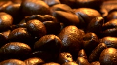 Filling up the coffee grinder in close up - slow motion Stock Footage