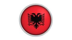 Albanian flag with circular frame Stock Footage