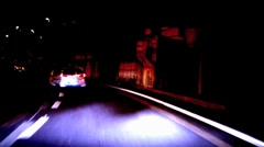 Driving on highway - timelapse Stock Footage