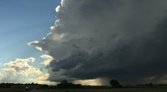 Edge of the Supercell Timelapse Stock Footage