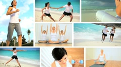 Montage of Luxury Health & Fitness Lifestyles Stock Footage