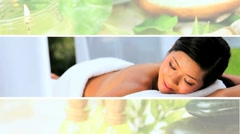 Montage of Luxury Female Spa Lifestyle Stock Footage