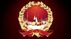 Christmas Snowy Scene HD Background Stock Footage