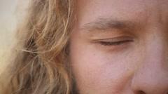 Closeup of Handsome Man Eye Stock Footage