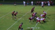 Stock Video Footage of Player Intercepts Football 03