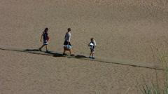 Finland YYteri people walking on beach - stock footage