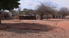 Kenya: Poor Dry Village Stock Footage