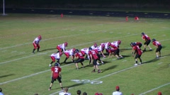 Player Intercepts Football 04 Stock Footage