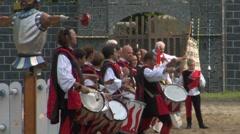 Medieval drummer 23 Stock Footage