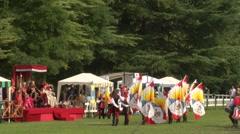 Medieval drummer 24 Stock Footage