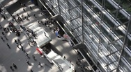 Stock Video Footage of Interior of Tokyo International Forum Building overhead time lapse