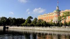 PAN: Mikhailovsky Palace, St. Petersburg, Russia   Stock Footage