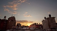 NYC soho rooftop timelapse Stock Footage