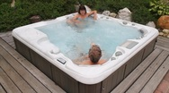 Stock Video Footage of Relaxation in the jacuzzi