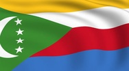 Flying flag of comoros | looped | Stock Footage