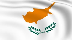 Stock Video Footage of flying flag of cyprus | looped |
