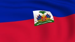 flying flag of haiti | looped | - stock footage