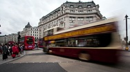 Stock Video Footage of Oxford Circus panning timelapse