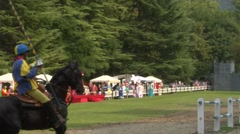 saracen joust cernobbio brienno knight 01 e - stock footage
