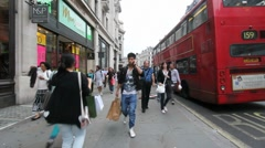 Shopping in London - stock footage