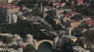 Stock Video Footage of Mostar view