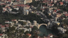 Mostar view 2 Stock Footage