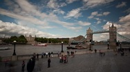 Stock Video Footage of London Tower Panning timelapse