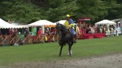 saracen joust cernobbio brienno knight 03 e - stock footage