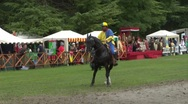 Stock Video Footage of saracen joust cernobbio brienno knight 03 e