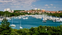 Yachts in the marina Stock Footage