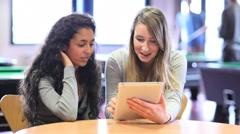 Opiskelijatoverit käyttäen tabletti tietokone Arkistovideo