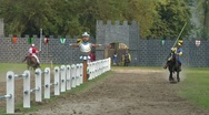 Stock Video Footage of saracen joust cernobbio tavernola 01 e